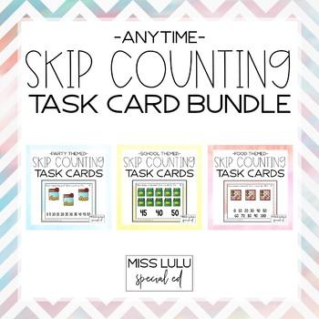 Anytime Skip Counting Task Card Bundle
