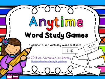Word Study Games (Any Word Feature) Anytime