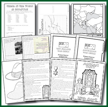 Anzac Day Activity Pack Years 5, 6, 7