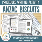 ANZAC Day Biscuit Procedure Writing Activity
