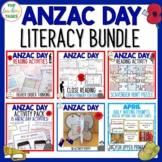 Anzac Day Literacy BUNDLE New Zealand Reading, Writing, Cr