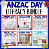 Anzac Day Literacy BUNDLE New Zealand Reading, Writing, Cr