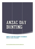 Anzac Day Bunting