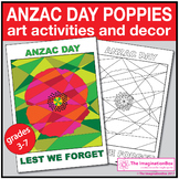 Anzac Day Coloring Pages | Poppy Art Activity