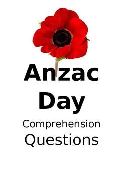Anzac Day Comprehension Questions Grade3