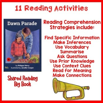Anzac Day Reading Dawn Parade Shared Book Activities