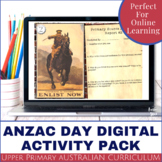 Anzac Day Digital Activity Pack - Distance Learning