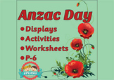 Anzac Day Display, Activities and Worksheets for reading/writing - ACHHK063