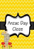 Anzac Day Fact Cloze Activity