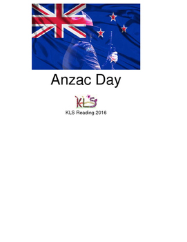 Anzac Day - New Zealand Australia holiday picture supported text lesson PDF
