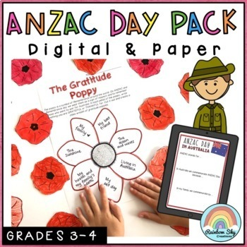 Primary Anzac Day Pack - Years 3 - 6