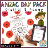 ANZAC Day Activities - Year 3 and Year 4 - Paper and Digital