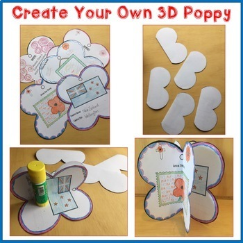 Anzac Day Activity - Poppy Ornament and Display 3D