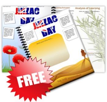 EYLF Anzac Day Portfolio Pages
