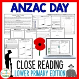 Anzac Day Reading Comprehension Activities Year 3 and 4 NZ