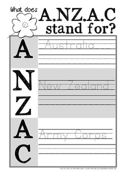 Anzac Day {Resources for LOWER Primary}