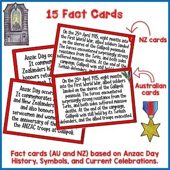 Anzac Day Activities Scavenger Hunt Puzzle New Zealand and Australia