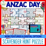 Anzac Day Activities Scavenger Hunt Puzzle NZ and Australia Distance Learning