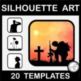 Anzac Day Silhouette Art