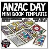 Anzac Day Mini Book/Mini Zine Templates (Full Colour + B&W), with Instructions