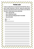 Anzac Day Wartime letter worksheet