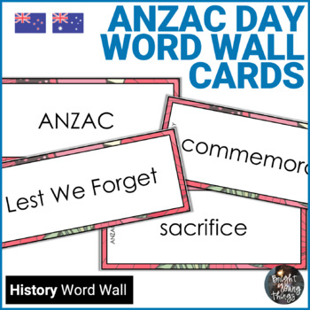 Anzac Day Word Wall Cards