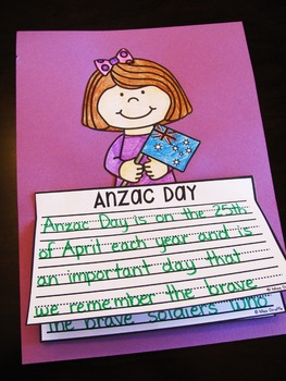 Anzac Day Writing Craft Activities
