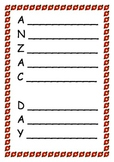 Anzac Day acrostic poems