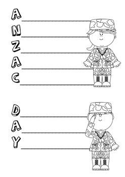 Anzac Day and Gallipoli Acrostic poem