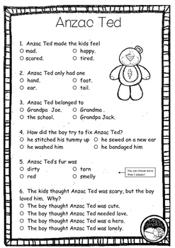 Anzac Ted  ~ A week of literacy activities