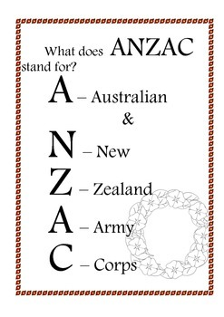 Anzac booklet