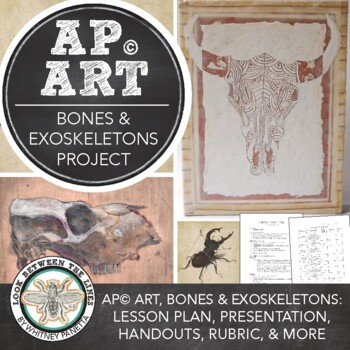 Ap Art Project Bones and Exoskeletons Study, for 2D Design or Drawing Portfolio