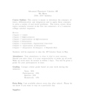 AP Calculus AB Syllabus