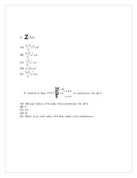 AP Calculus Midterm