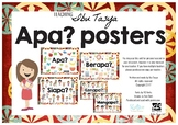 Apa Posters Indonesian | Question Posters | Bahasa Indonesia