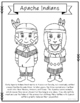 Apache Indians Coloring Page Craft and Poster, Indian ...