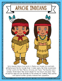 Apache Indians Coloring Page Craft and Poster, Indian Trib