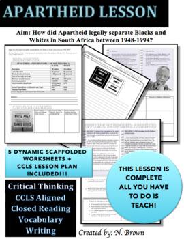 Apartheid Lesson