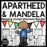 Apartheid, Nelson Mandela Biography Reading Comprehension Bundle DBQ