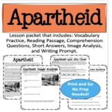 Apartheid: Reading and Activities