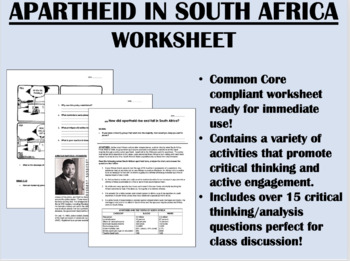 Apartheid in South Africa & Mandela - Global/World History Common ...