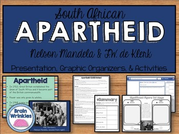 Apartheid in South Africa: Nelson Mandela and F.W. de Kler