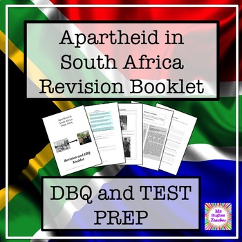 Apartheid in South Africa Test preparation and history source questions