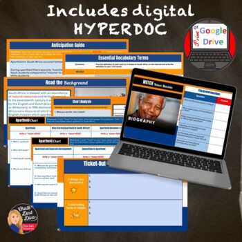 Apartheid in South Africa Web Quest with QR Codes (Print or Digital)