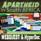 Apartheid in South Africa | Web Quest with QR Codes | Print or Digital |