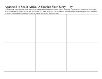 Apartheid in South Africa Writing/Graphic Summary Activity