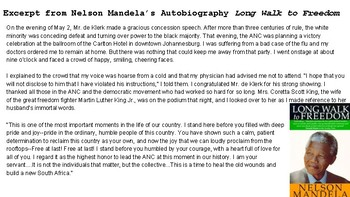 Apartheid in South Africa and the roles of Nelson Mandela &  F.W.de Klerk