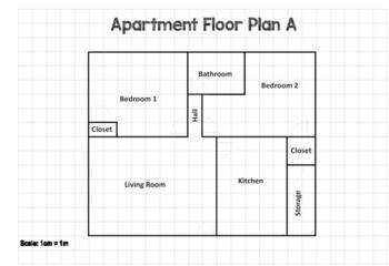 Area Floor Plan Worksheets Teaching Resources Tpt