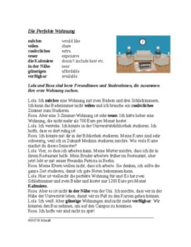 Apartment Hunt German Reading - Deutsche Lesung (Konjunktiv II)