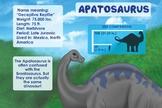 Apatosaurus - Dinosaur Poster & Handout